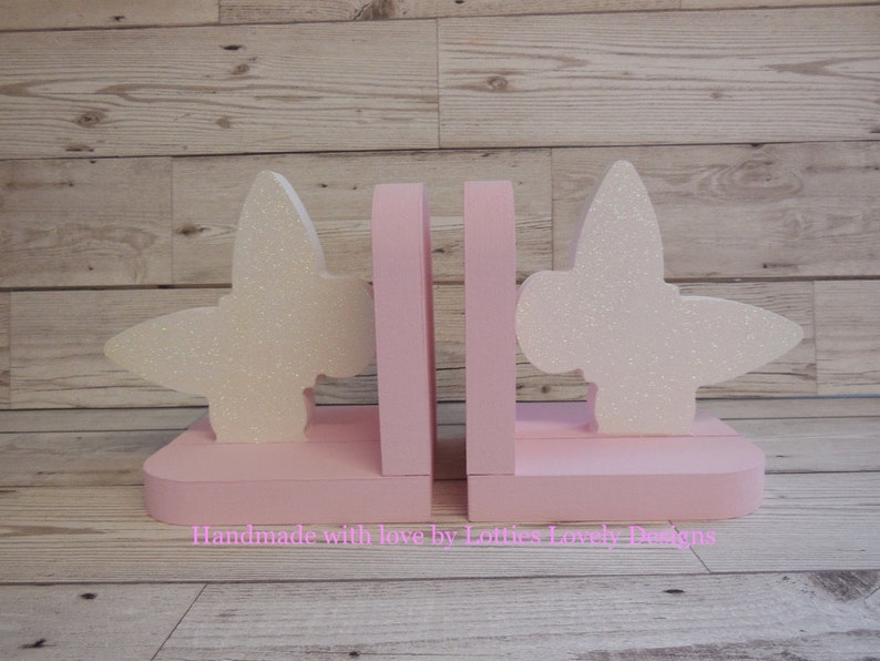 Handmade Girls Butterfly bookends / Nursery display bookends / image 0