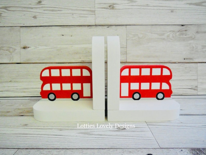 Bus bookends / Nursery display bookends / Children's image 0