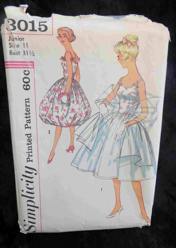 Vintage 1960s Prom / Homecoming Dress, Simplicity Pattern #3015 ...