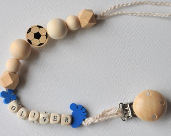 Personalised Dummy Clips (Natural Maple Wood)