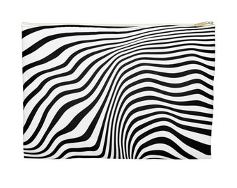 Abstract Lines Accessory Pouch