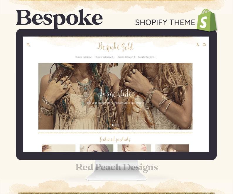 Bespoke Gold Feminine Shopify Theme  Boho Watercolor Shopify image 1