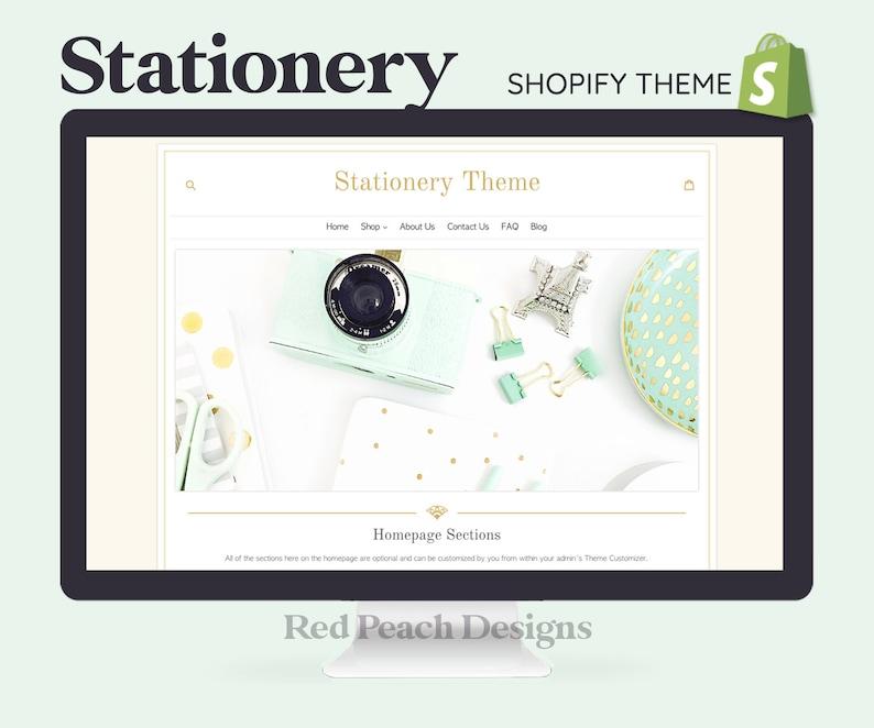 Stationery Feminine Shopify Theme  Responsive Shopify Theme image 1