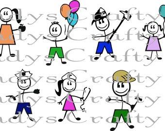 Digital file SVG Stick Figures