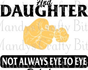 Digital file SVG Daddy and Daughter