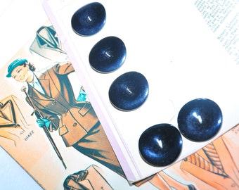 Black shiny vintage 1940-1960's button