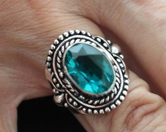 Green Quartz Ring-size 8.75!