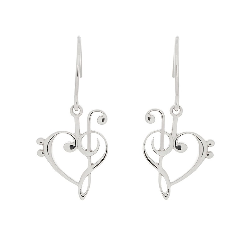 Treble and Bass Clef Earrings w French Wire Hooks