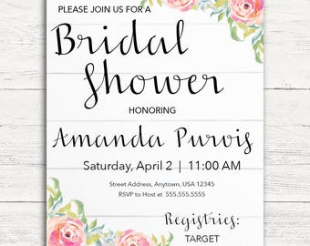 Whimsical Bridal Invitation