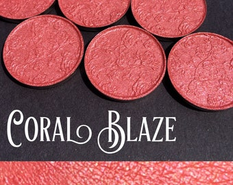 Coral Blaze Pressed Shimmer Eye Shadow - 26mm pan
