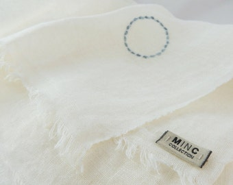 AIR linen shawl with silk embroidery for your summer wardrobe or wedding occasion.