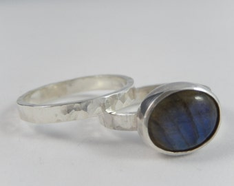 LABRADORITE and Sterling silver ring.
