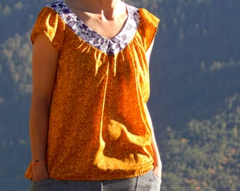 Soft and flowing blouse like a caress of autumn