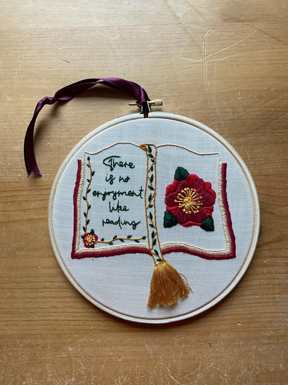 Reading Literary Quote Embroidery Kit