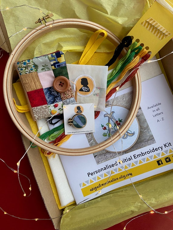 Initial Embroidery Gift Set