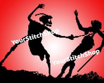 No more romance - death - cross stitch pattern - valentine's day - scary - creepy