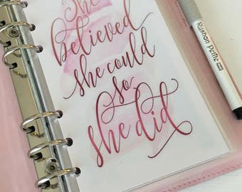 She Believed Personal Planner Dashboard