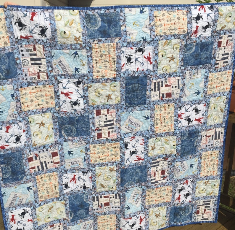 Nautical and Sea Themed Lap Quilt