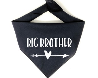 Dog Pregnancy Announcement Bandana, Big Brother Dog Bandana, Big Brother To Be, Big Brother Bandana, Pregnancy Announcement Dog, Baby, Dog