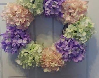 Hydrangea wreath / holiday wreath / front door wreath / Easter wreath / summer wreath / spring wreath / door wreath