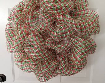 Christmas wreath/ holiday wreath/ front door wreath