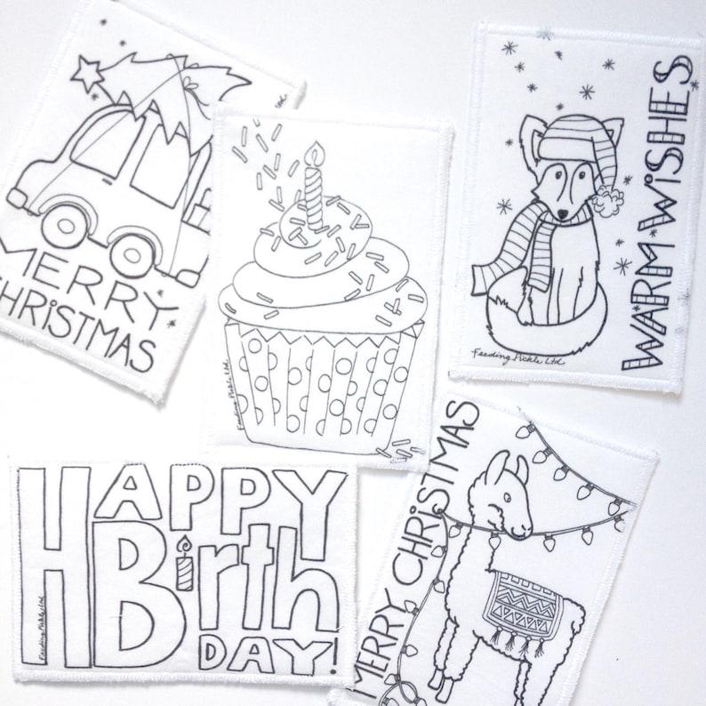 Kids Cupcake Coloring Card Cupcake Sprinkles Coloring Card Fabric Postcard Kids Cupcake Postcard Birthday Coloring Card Activity