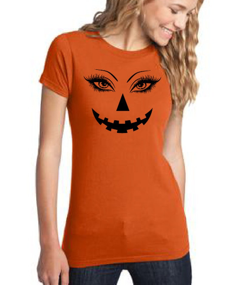 b1e93e22d Sexy eyes Halloween t-shirt eye lashes pumpkin T-shirt Jack | Etsy