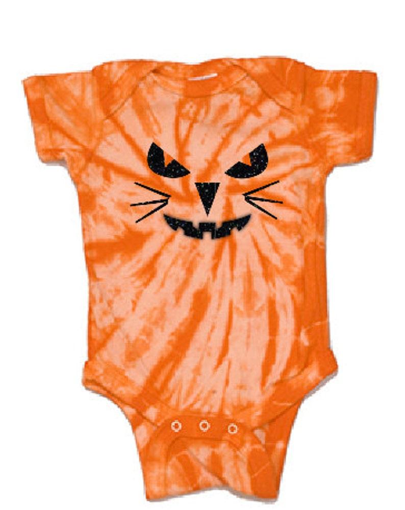 7ad96f966 Cat Halloween onesie cat pumpkin onesie cat Jack o Lantern | Etsy