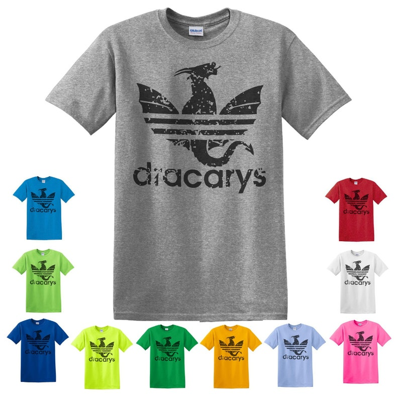 3d112a93e Dracarys Adidas Parody Shirt Dracary Shirt Game Of Thrones | Etsy