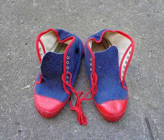 1988 Ussr Gummi Aus Jungen Turnschuhe Kinder Sneaker Russische 5 Sowjetischen Gr36russisch5 5usa Jahrgang Sportschuhe EHI9YWD2