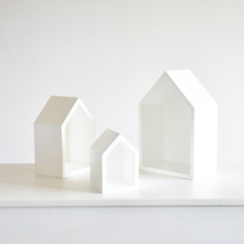 Weiße Bücherregale Haus Form Spielzeug Lagerung, Bücherregal, Wandregal für  Kinder. Kinder Regale, weiße Regal Wandregal kinderzimmer