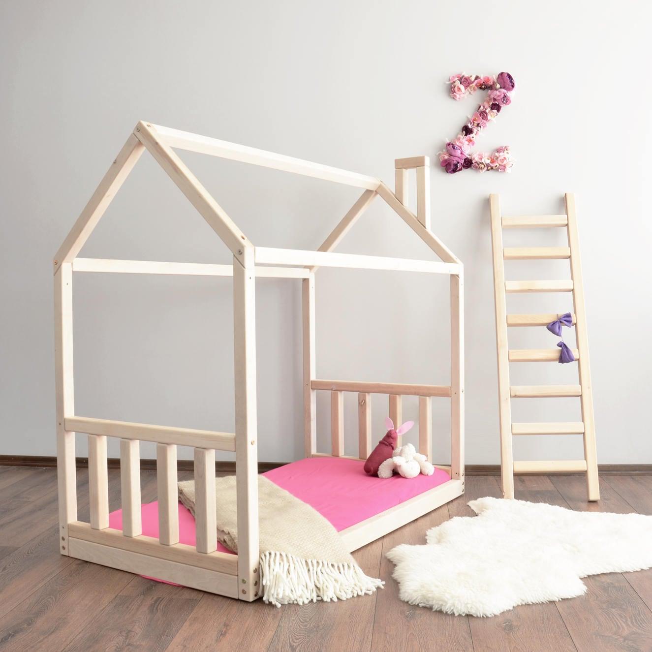 Haus Bettrahmen Kleinkind-Bett Montessori Babybett | Etsy