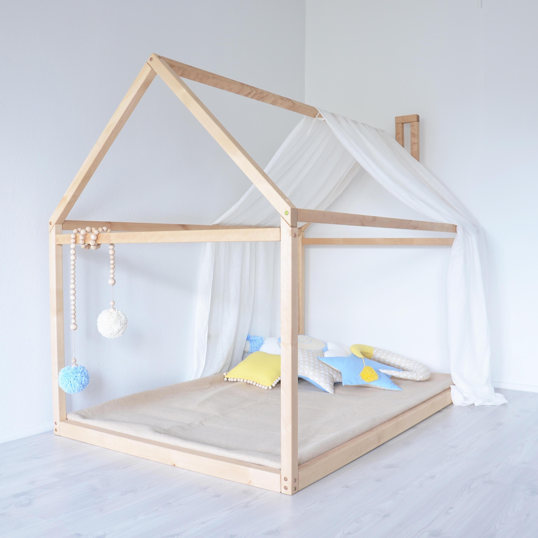 Voller Größe Bett Boden Montessori Bett Rahmen Babybett