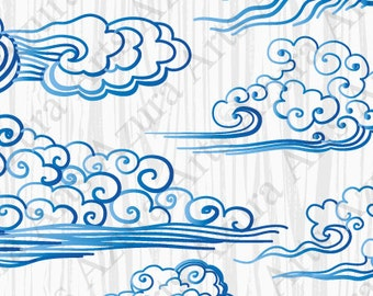 Blue wave,Drawn Wind,Blue Cloud,Hand-drawn clouds,Painted by hand wave,Cloud cartoon,Cartoon wave,Blue curls,Drawn curls,Kids Clipart,Blue