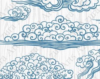 Blue Cloud,Blue wave,Drawn Wind,Hand-drawn clouds,Painted by hand wave,Cloud cartoon,Cartoon wave,Blue curls,Drawn curls,Kids Clipart,Blue