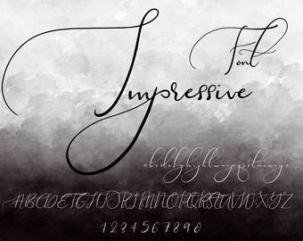 5 font bundlephotoshop fonthandwritten fontwedding etsy