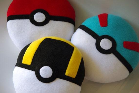 Handmade Pokeball Pokemon Inspirated Stuffed Plush Toy Or Etsy