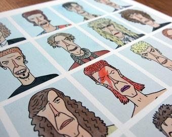 Ch-Ch-Ch-Changes - David Bowie, Illustration, Giclee Art Print