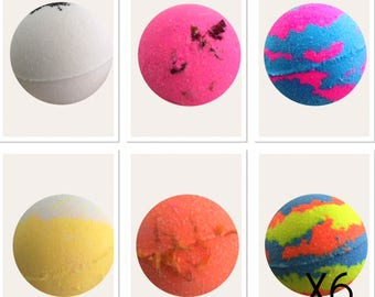 BULK BUY 6X Aromatherapy Bath Bombs,Bubble Bath,Bath Fizzies,Bulk Bath Bombs,Luxury Bath Treat
