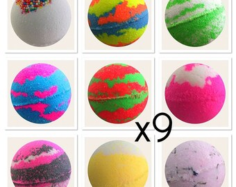 BULK BUY 9X Aromatherapy Bath Bombs,Bubble Bath,Bath Fizzies,Bulk Bath Bombs,Luxury Bath Treat