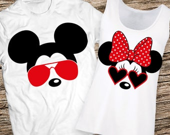 79ea871394 Disney Couples Shirts, Disney Couple Shirts, Mickey and Minnie Couple shirts,  Matching Couple Disney Shirts, Couples Disney Personalized