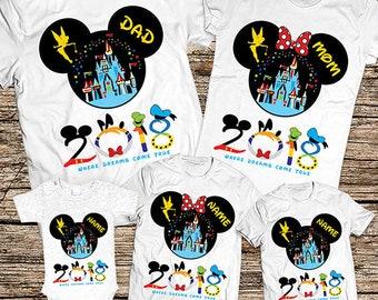 Disney Family Shirts, Disney Family Vacation T shirts, Mickey and Minnie Family Shirts,Family Disney Shirts,Pesonalized Disney Family Shirts