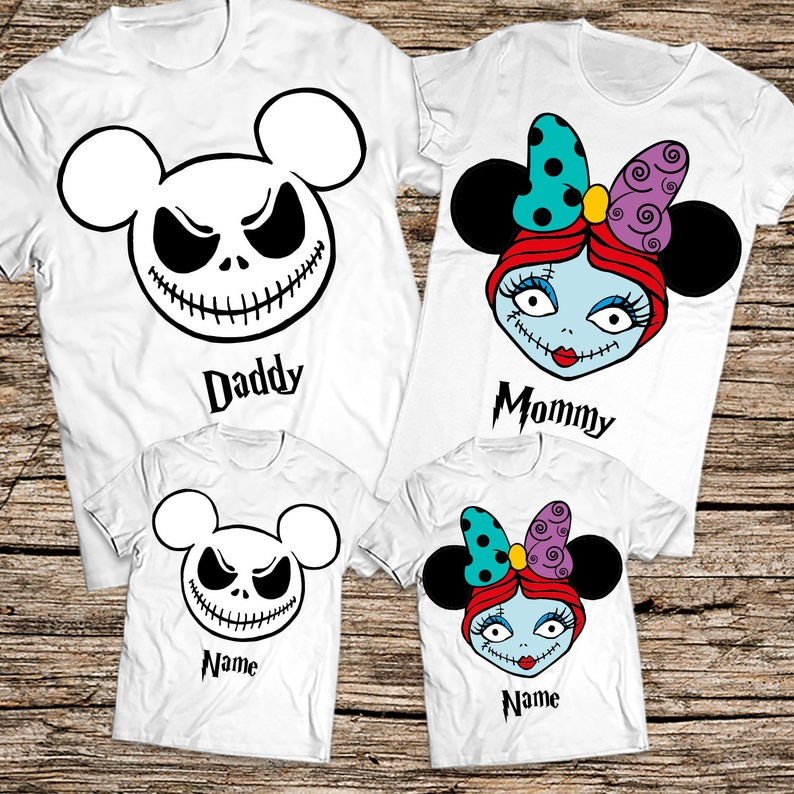 eca55c97 Jack and Sally family shirts Halloween shirts Jack and Sally | Etsy