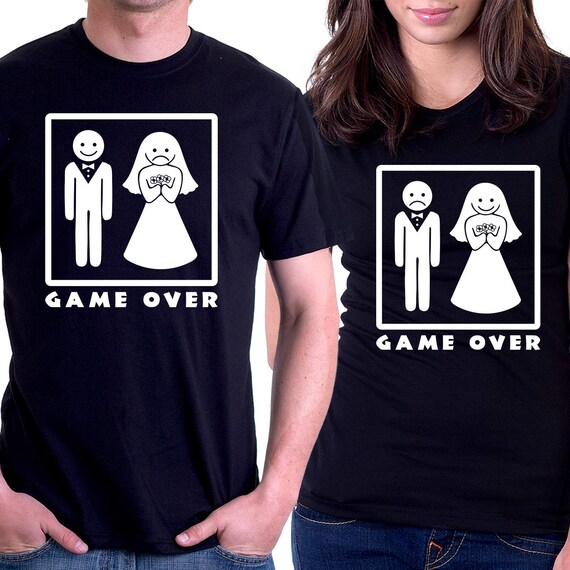 Funny Wedding Gifts For Couple Game Over Engagement Gift Etsy