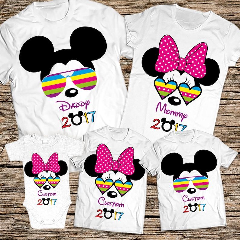 2dd9088b Disney glasses family shirt Disney family vacation shirts | Etsy