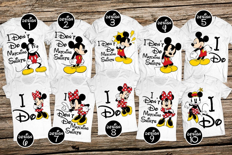 b64b4e189 I Don't Do Matching group Shirts Funny Disney Family | Etsy