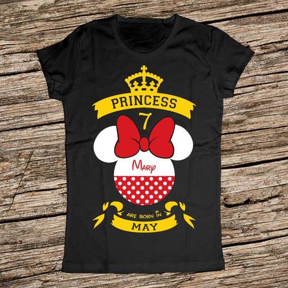 Minnie Mouse Birthday Shirt Personalized Disney Girl
