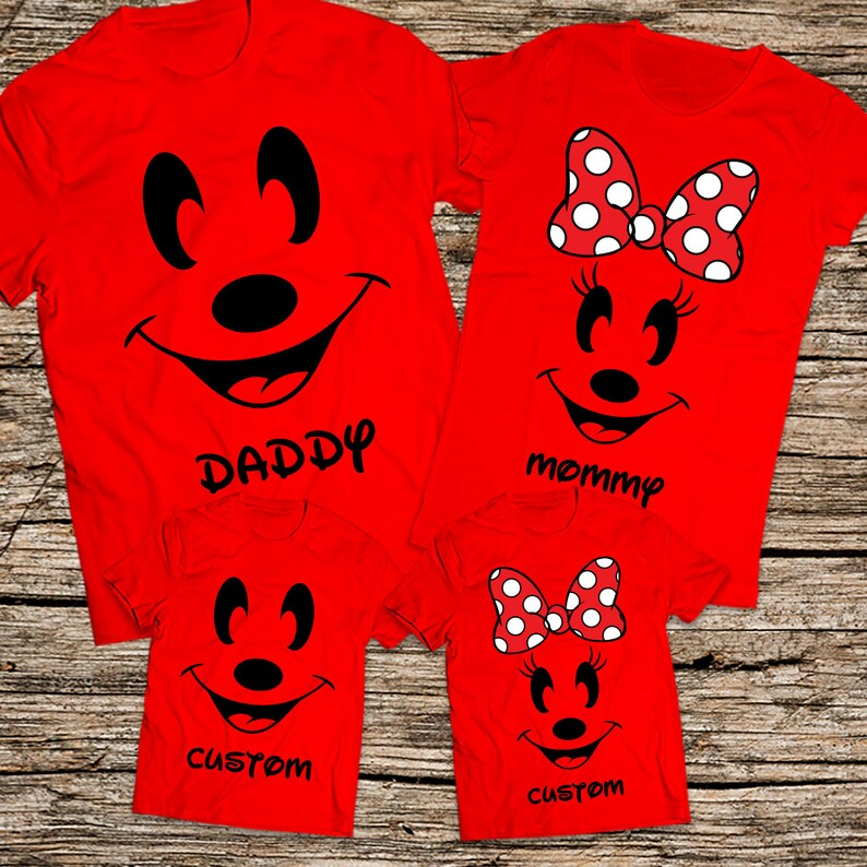 cba28e70 Disney Mommy Daddy and Kids shirts Mickey and Minnie family | Etsy