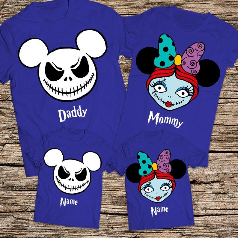 fc4f9b611b7a Jack and Sally family shirts Halloween shirts Jack and Sally