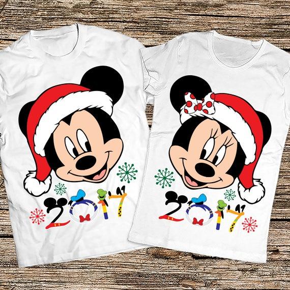 47e6cdce47 Matching Christmas couple shirts Disney couple christmas | Etsy